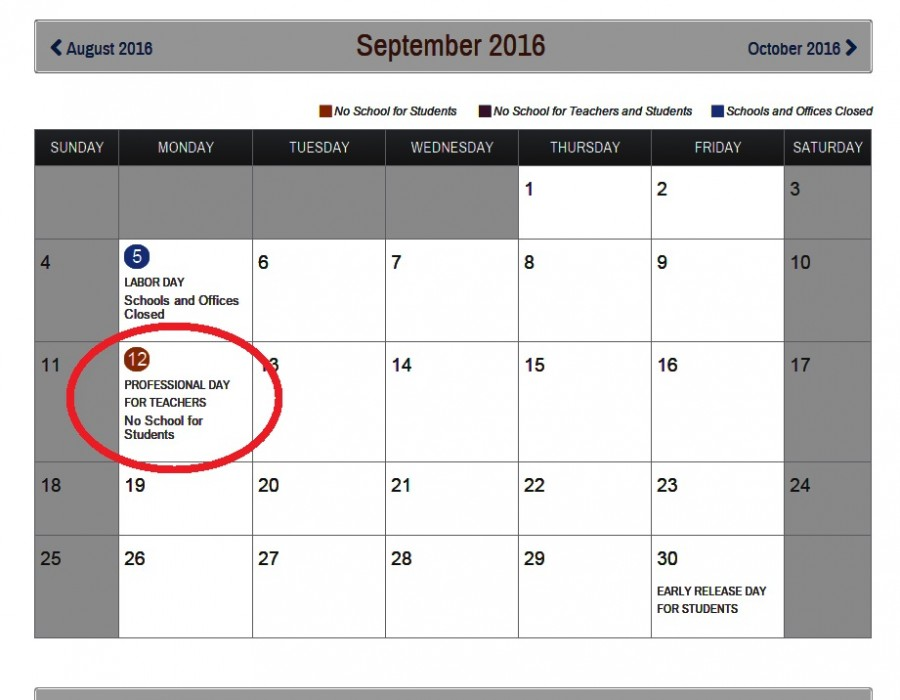 added to MCPS calendar for