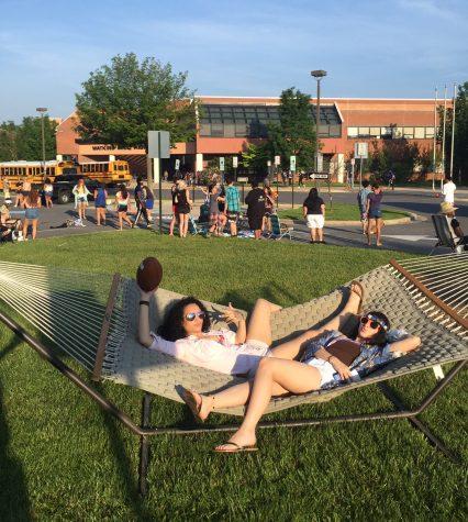 Seniors prank teachers with staff parking lot beach party