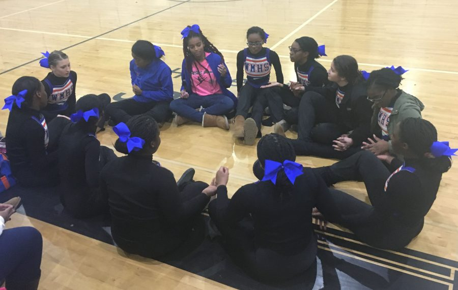 Watkins+Mill+Poms+wait+for+results+at+Northwest+Highs+school