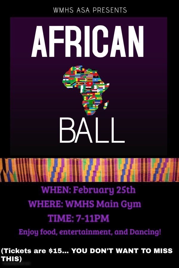 African Student Association ends Black History Month with African Ball tomorrow night