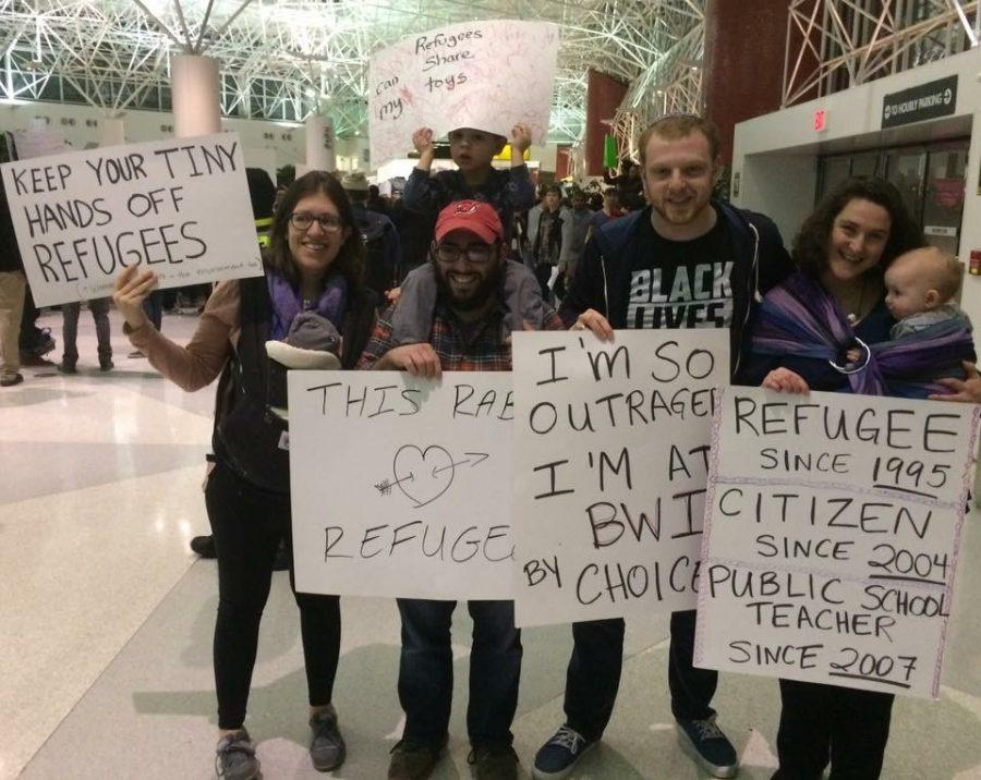 English+Teacher+Sonya+Shpilyuk+and+her+family+protesting+at+B.W.I.+International+Airport