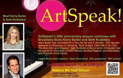 ArtSpeak! returns to WMHS tomorrow with two Broadway stars