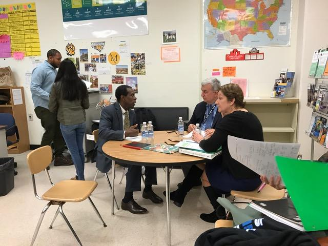 MCPS Superintendent visits the Mill, learns about College Tracks