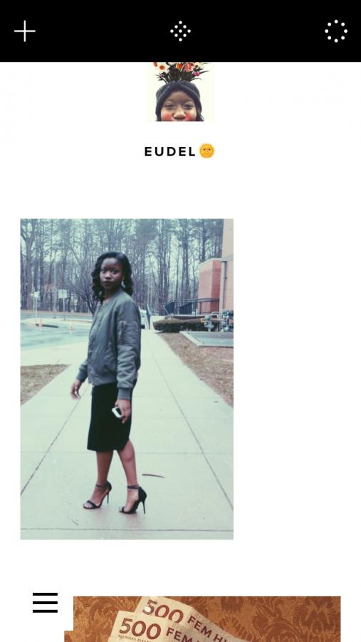 Sophomore Eudel Ndongs VSCO feed
