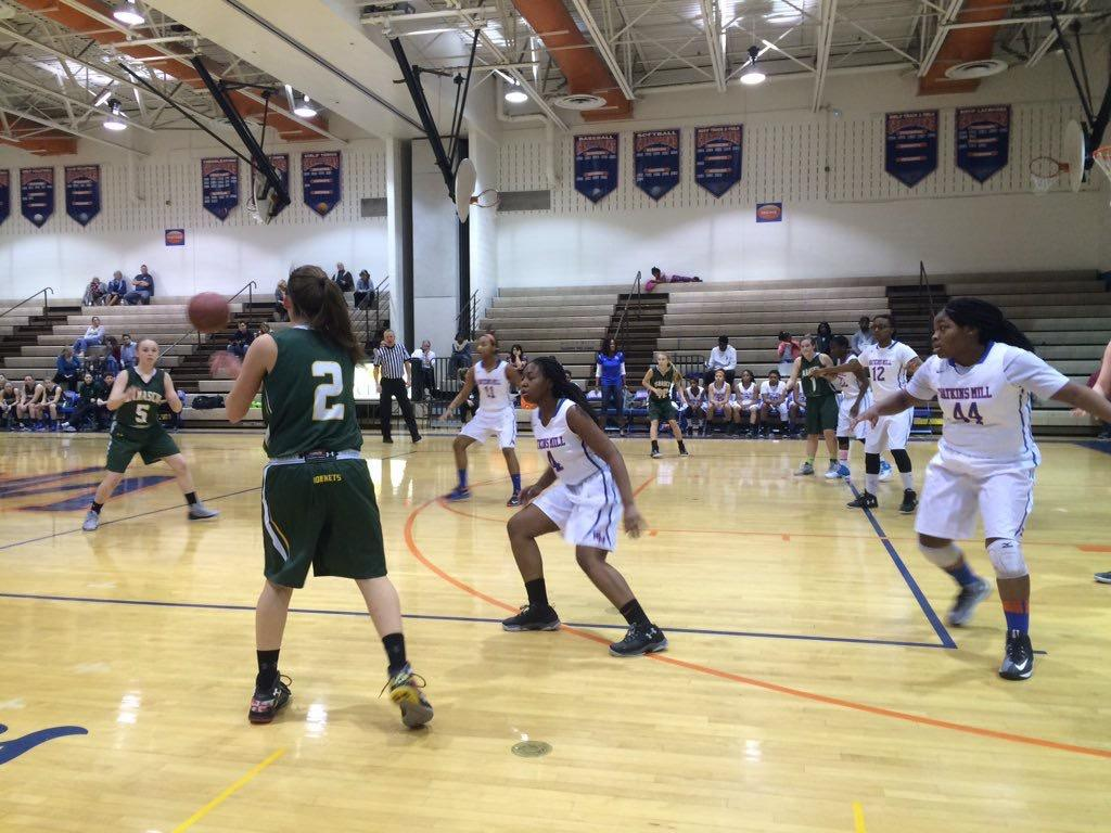 Girls basketball got stung by the Damascus Hornets on February 20.