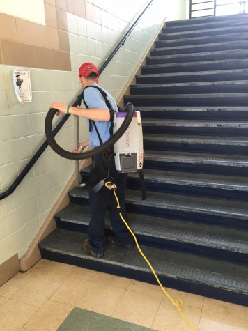 Building service workers keep school sparkling clean, running smoothly