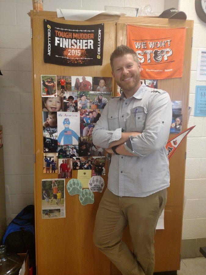 Science+teacher+Matt+Johnson+poses+in+his+classroom.