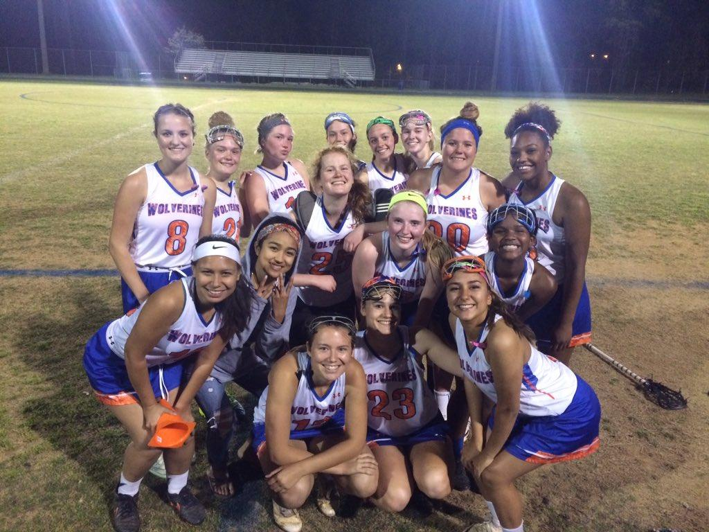 Girls varsity lacrosse poses after defeating the Einstein Titans 16-3 on April 25.