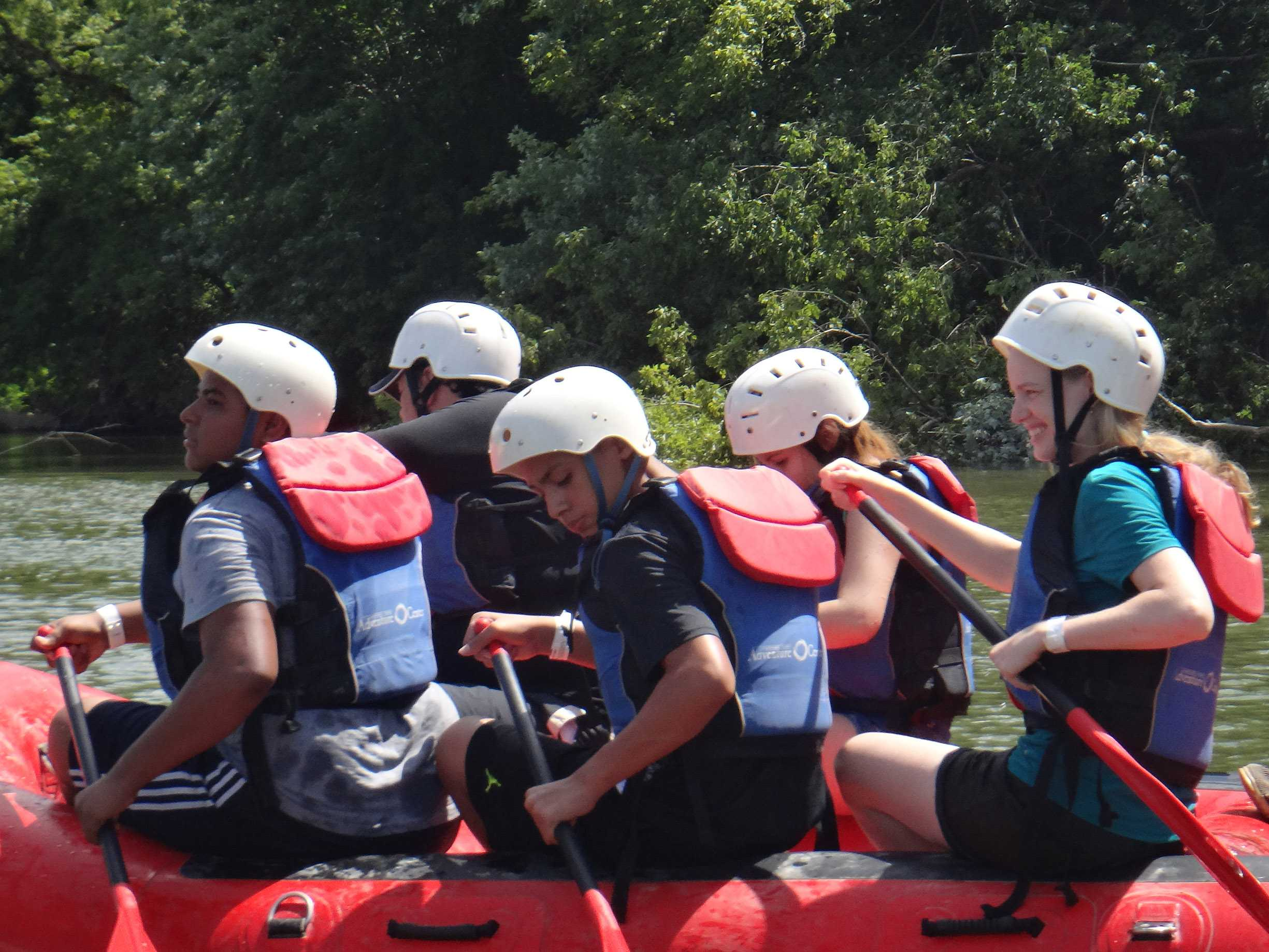 Students+from+the+Youth+Summer+Summit+white+water+rafting