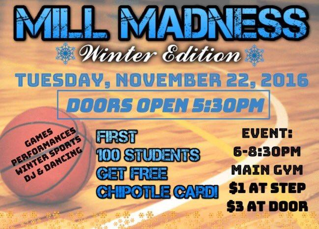 Winter+Mill+Madness+kicks+off+tonight+in+the+gym+at+6pm