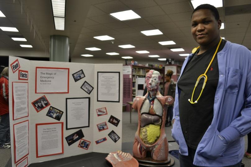 Sophomore+Andre+Tulloch+with+his+project