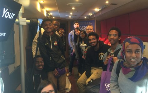 C-SPAN bus visits Watkins Mill, gives tours to government, journalism students