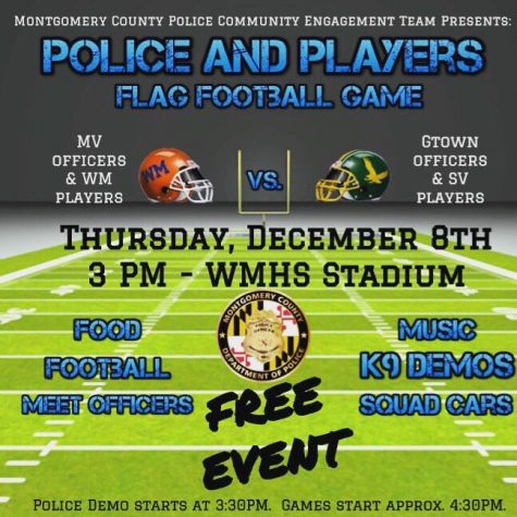 Police officers join players in free football game against Seneca Valley today