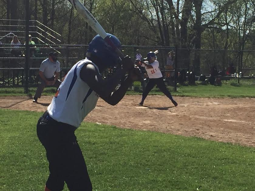 Senior Cameron Moore on last year's spring softball team