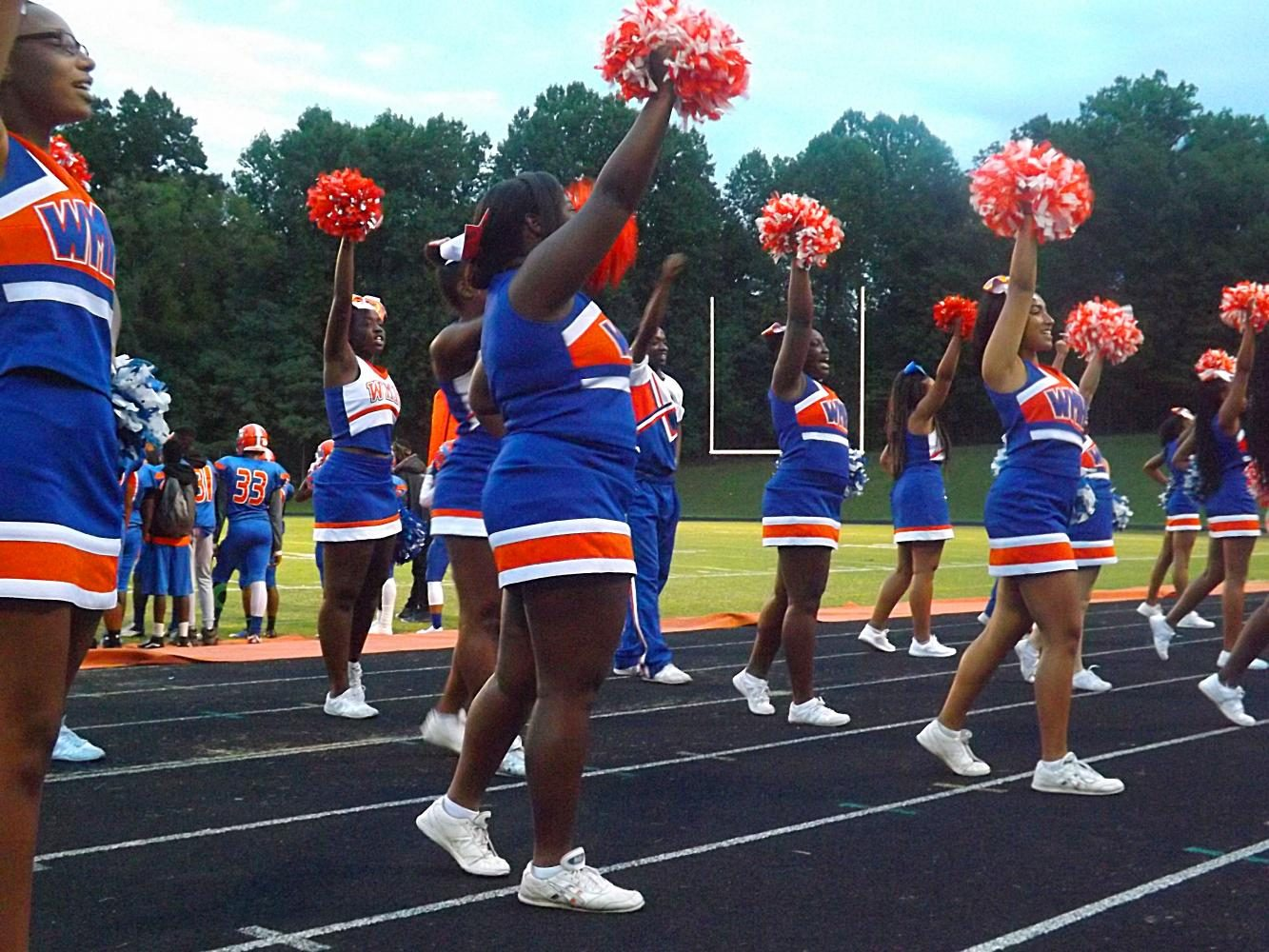 Cheerleaders+on+the+sidelines+at+the+football+opener+on+September+1.