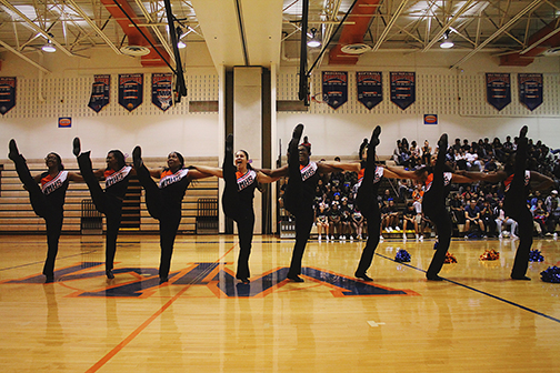 Poms performing during Mill Madness.