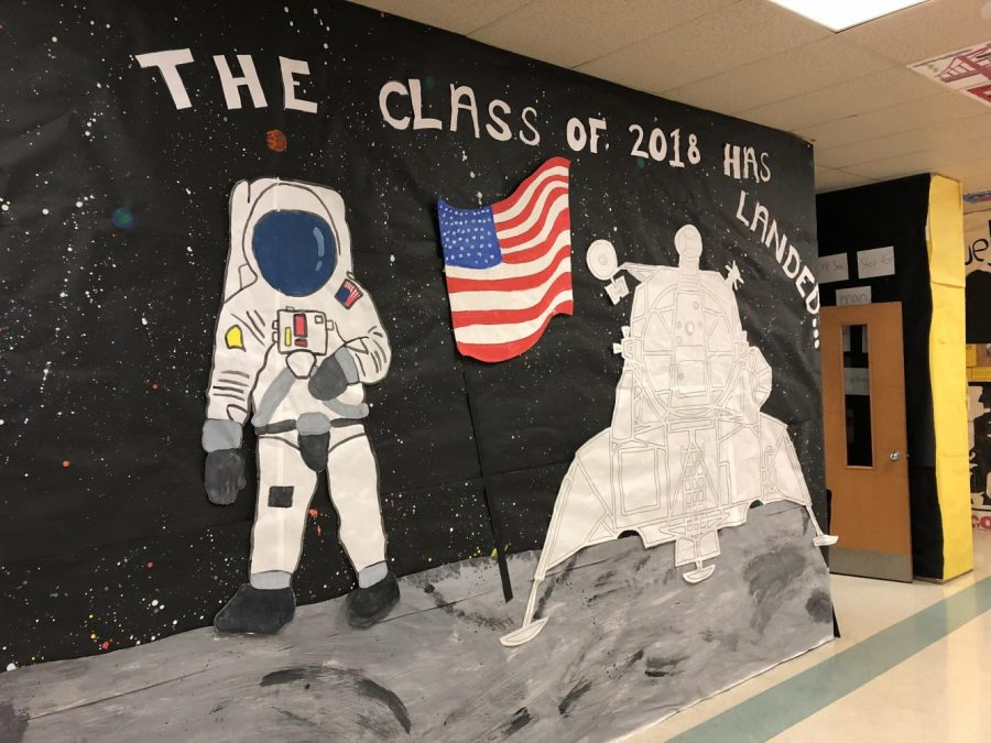 Classes decorate Homecoming halls with decades theme