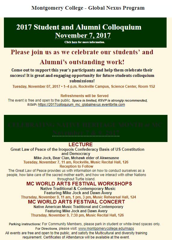Montgomery College S Global Nexus Initiative Promotes Cultural