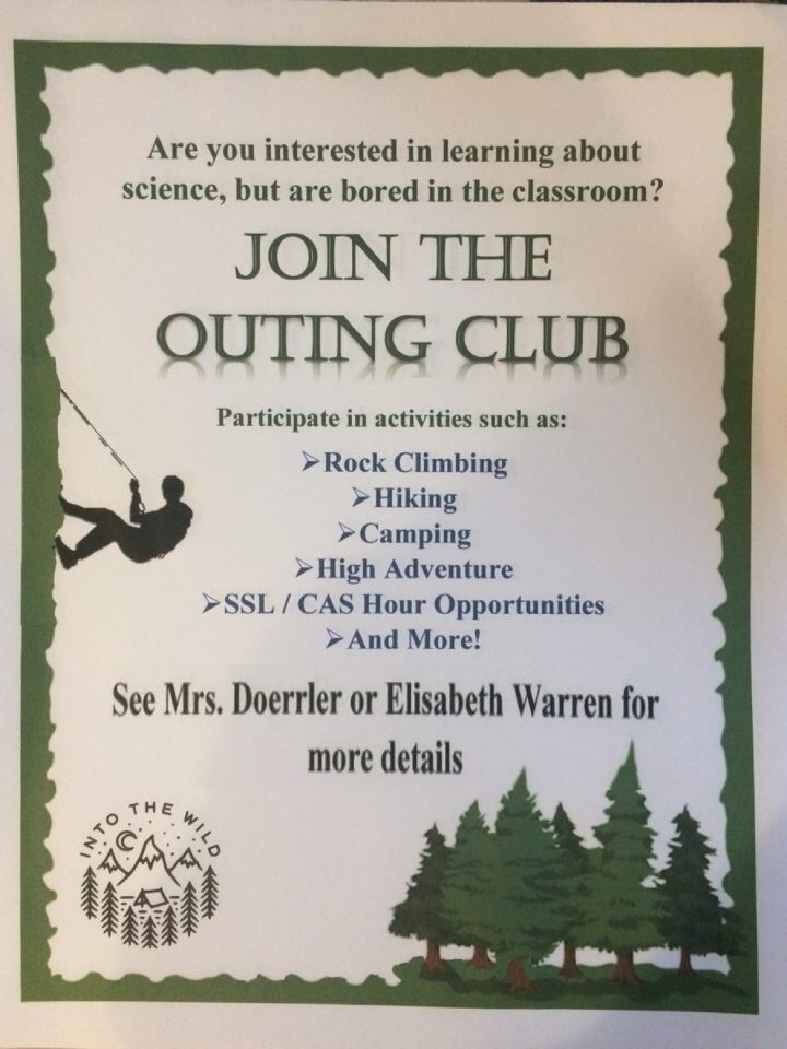 Flyer for the new Watkins Mill High School club.