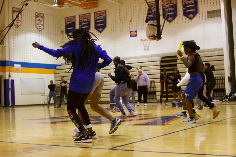 Classes battle it out in 3-legged race