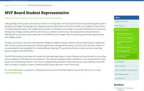 Montgomery Village Foundation hiring student representative