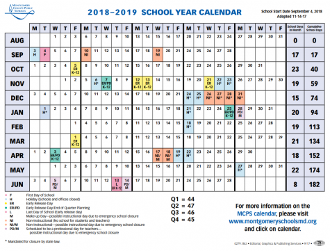 MCPS sets 2018-2019 calendar, shortens spring break