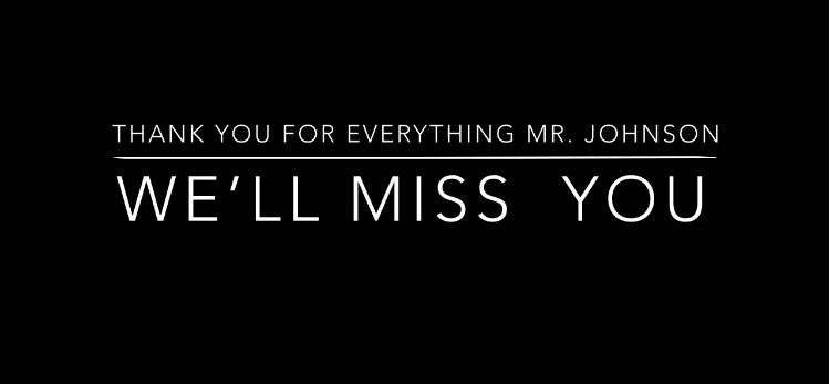 Video: Thank you Mr. Johnson
