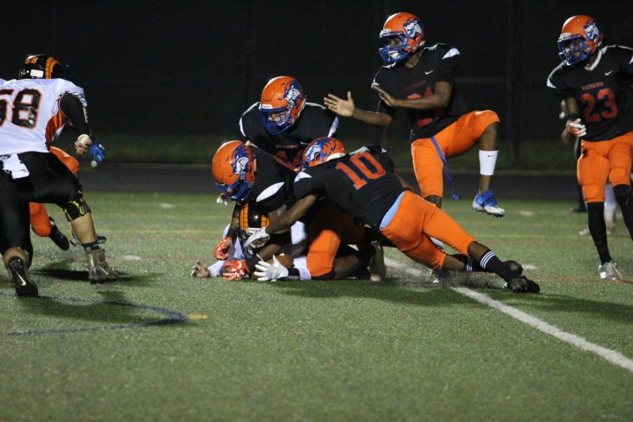 Watkins Mill defeated the Rockville Rams in the Homecoming game on Saturday, September 29 with a final score of 42-7.