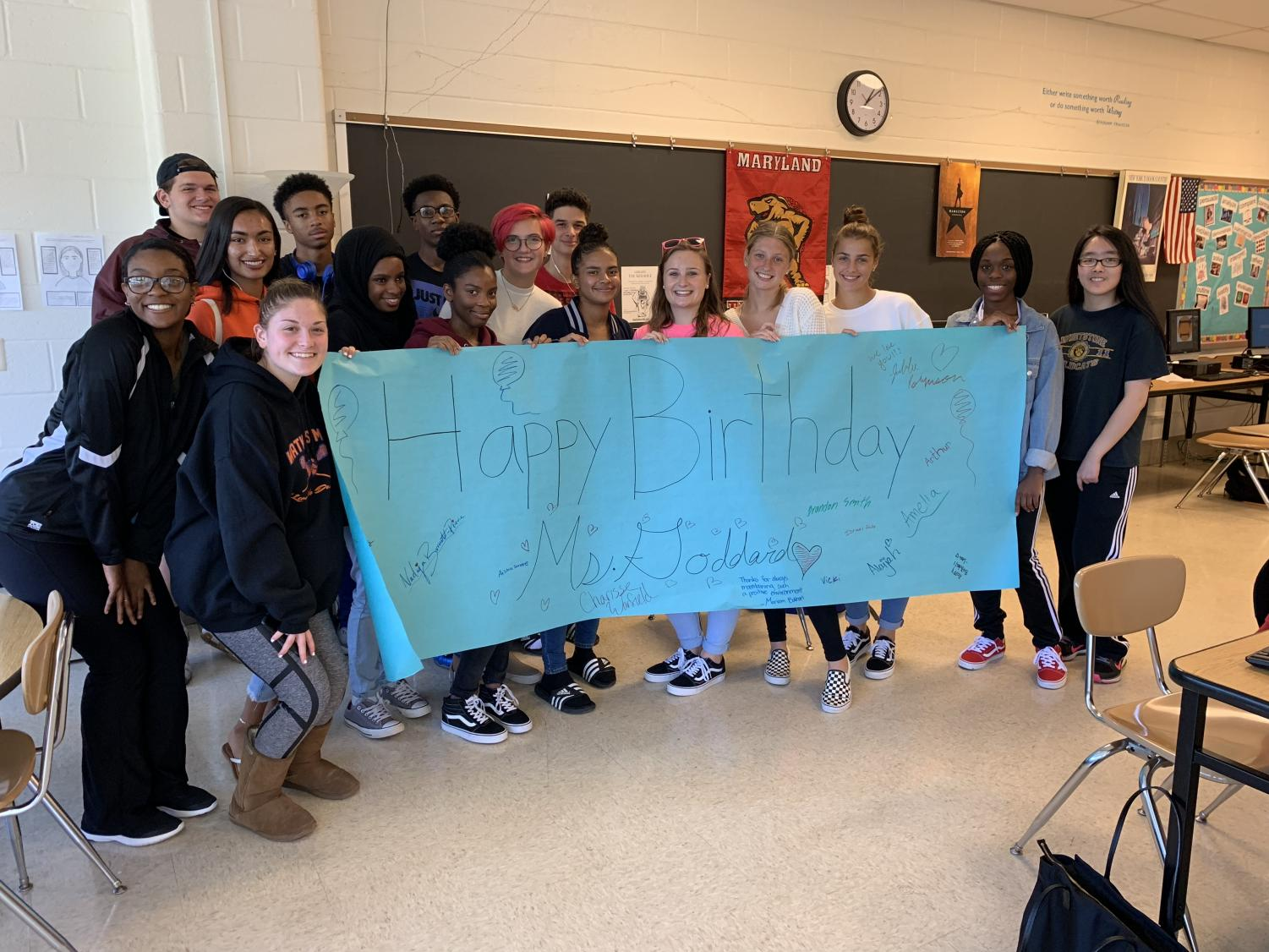Happy birthday, Ms. Goddard!  Love, the Current staff