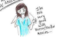 Awkward Angel: Scary movies