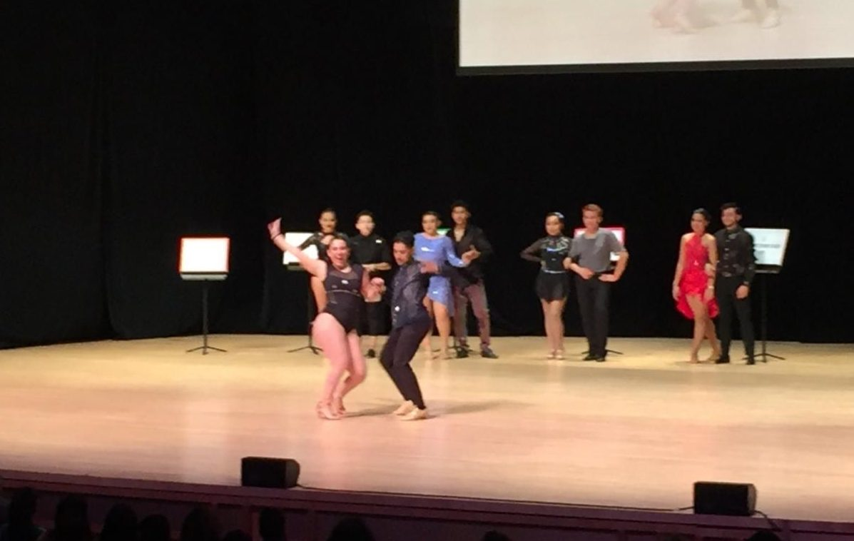 OLAS perform at the Latin Dance competition at Strathmore.