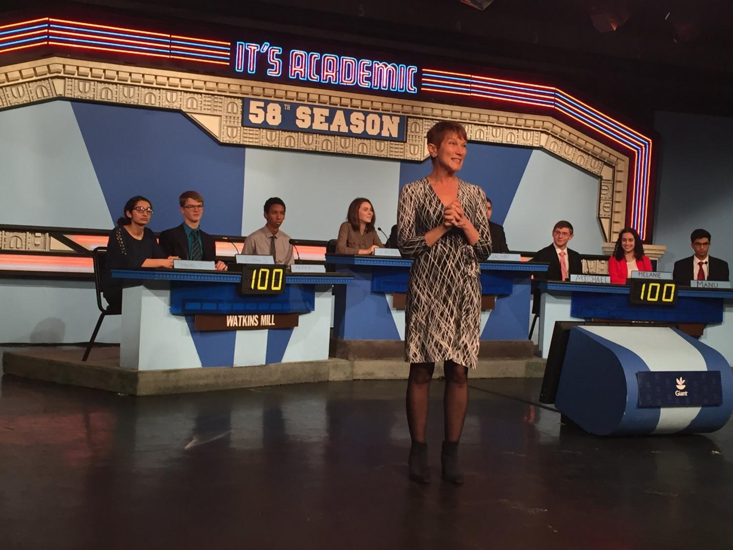 Watkins Mill's It's Academic team competed in NBC4 studios.  The show will air in February.