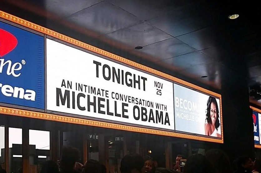 Three seniors had the opportunity to see Michelle Obama in person at her event.