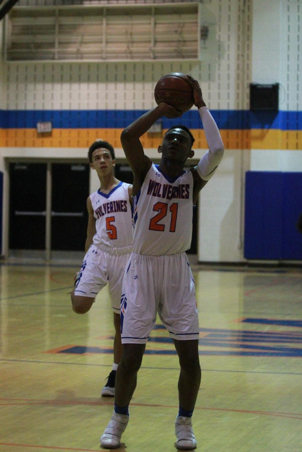 Senior Manesse Boito gets ready to take a shot during the season opener.