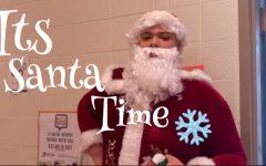 Santa (alumni Tyler Lewis) surprises Watkins Mill with a visit