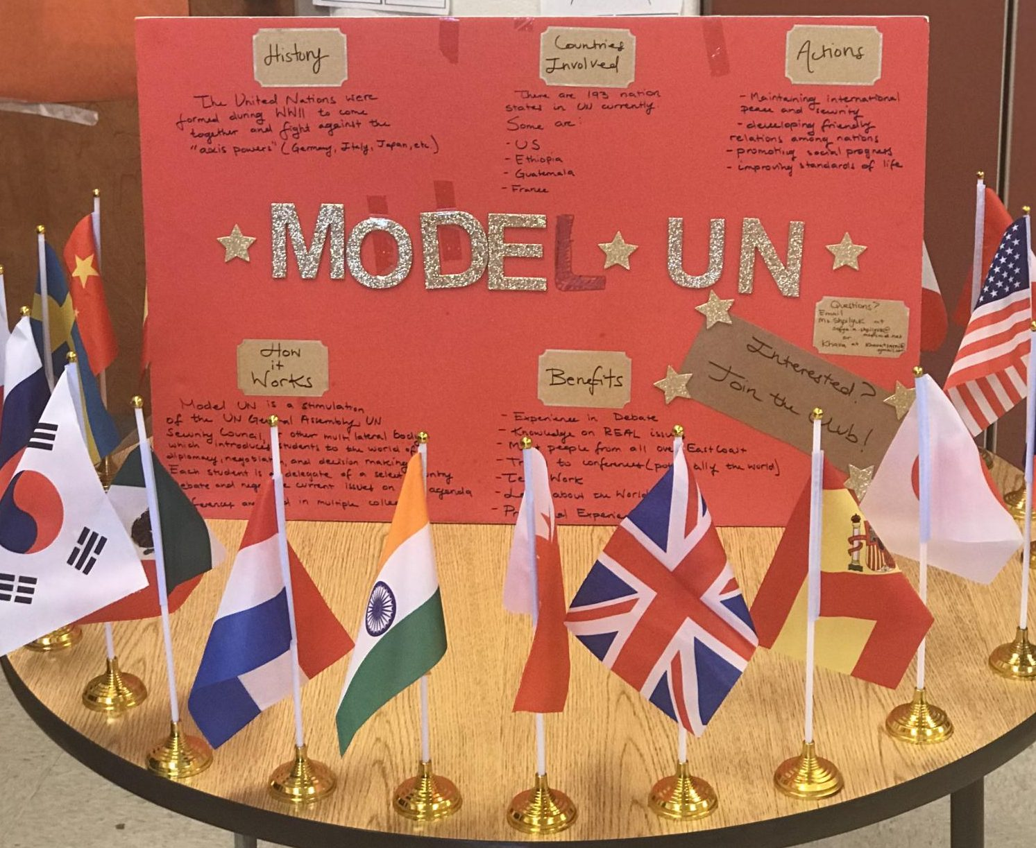 Model UN is a new club at Watkins Mill this year, sponsored by English teacher Sonya Shpilyuk