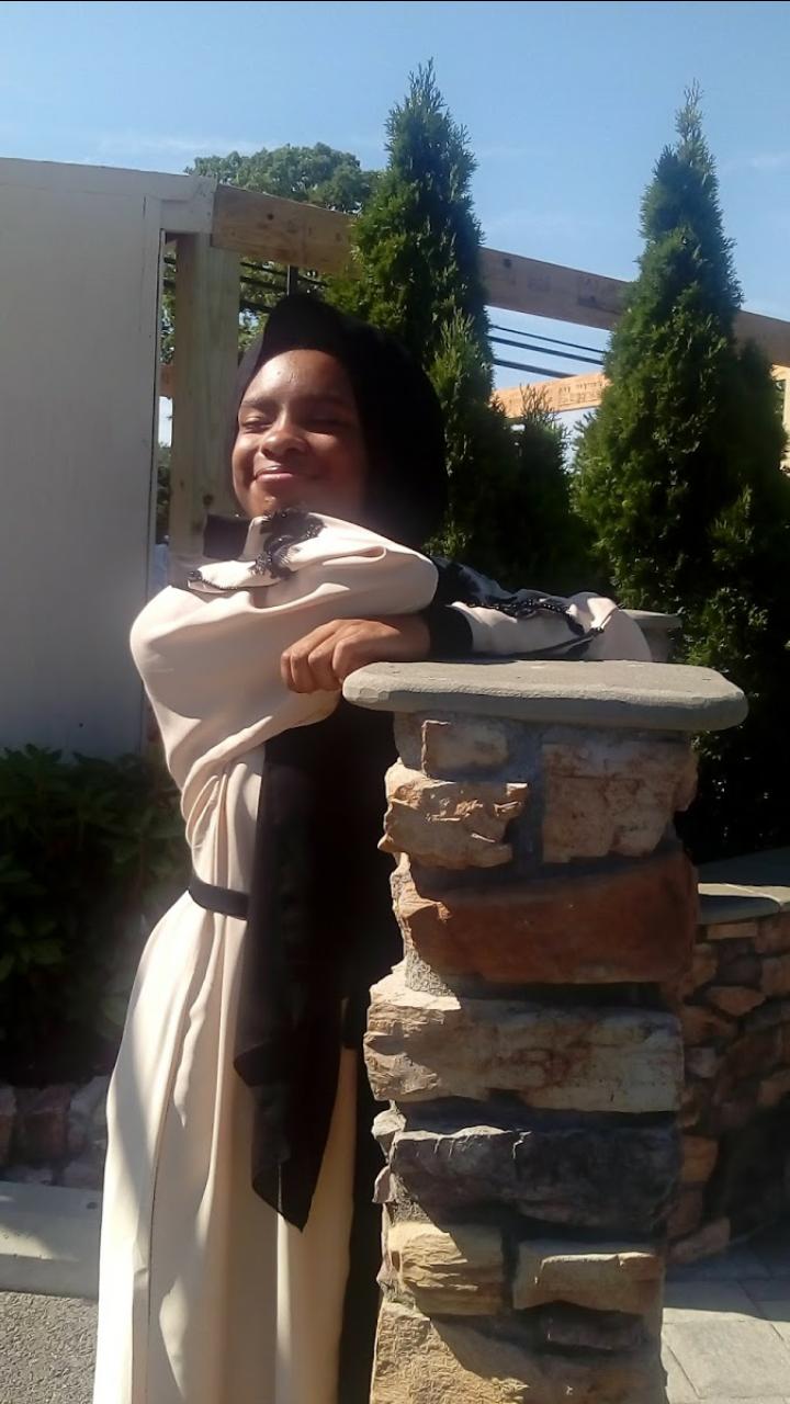 Senior Aisha Sowe, without the runaway goat