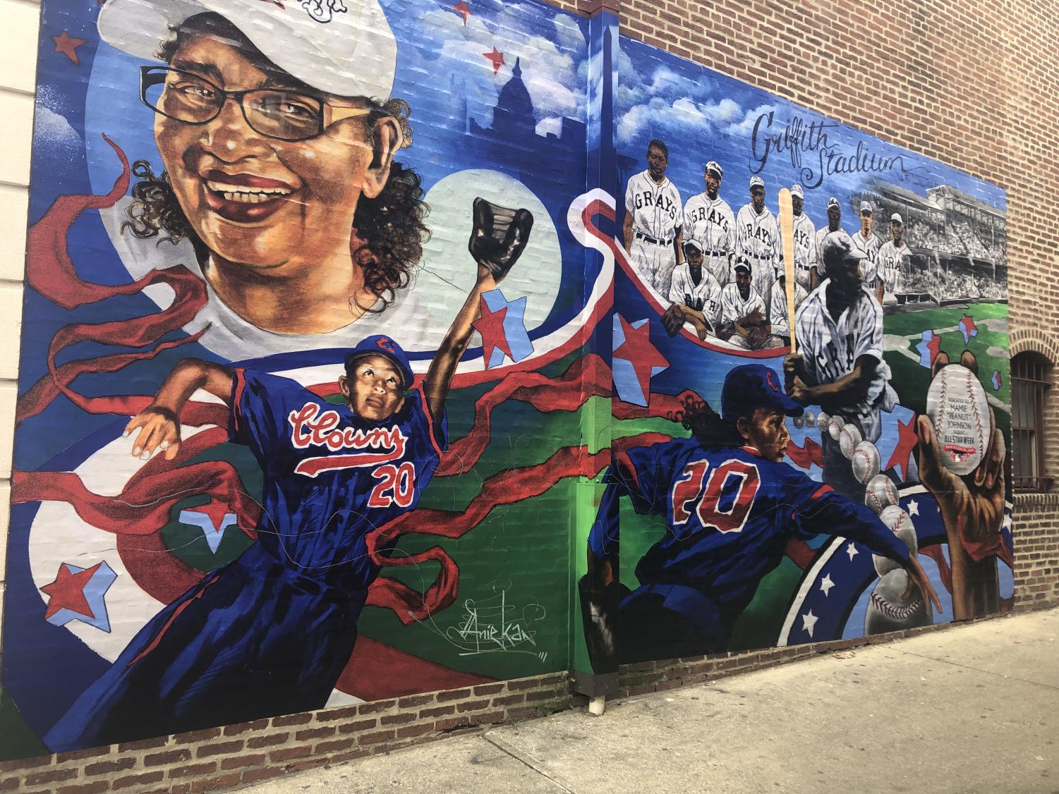 The mural outside Ben's Chili Bowl in Washington DC, where the Watkins Mill Elites took a field trip as part of Black History Month.