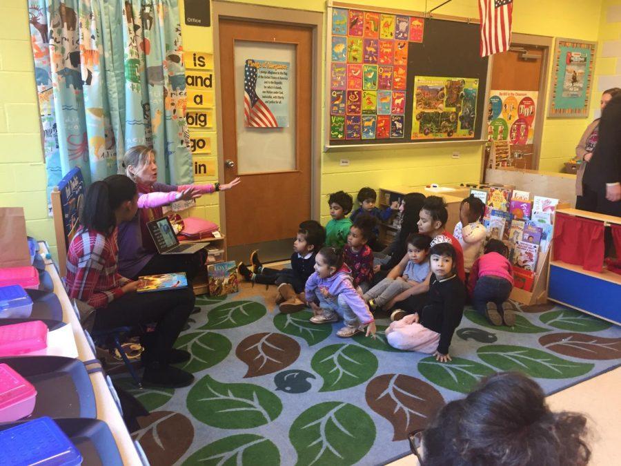 Photo feature: Author Kay Kronenburg visits children at Watkins Mill High School