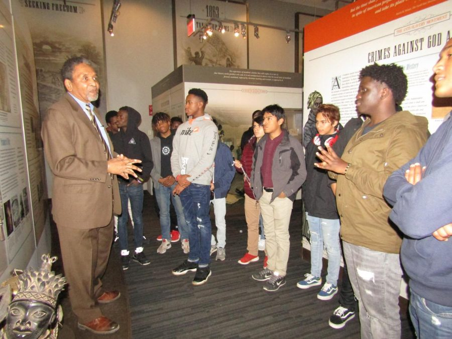 Frank Smith informing Elites on African American men fighting in the Civil War