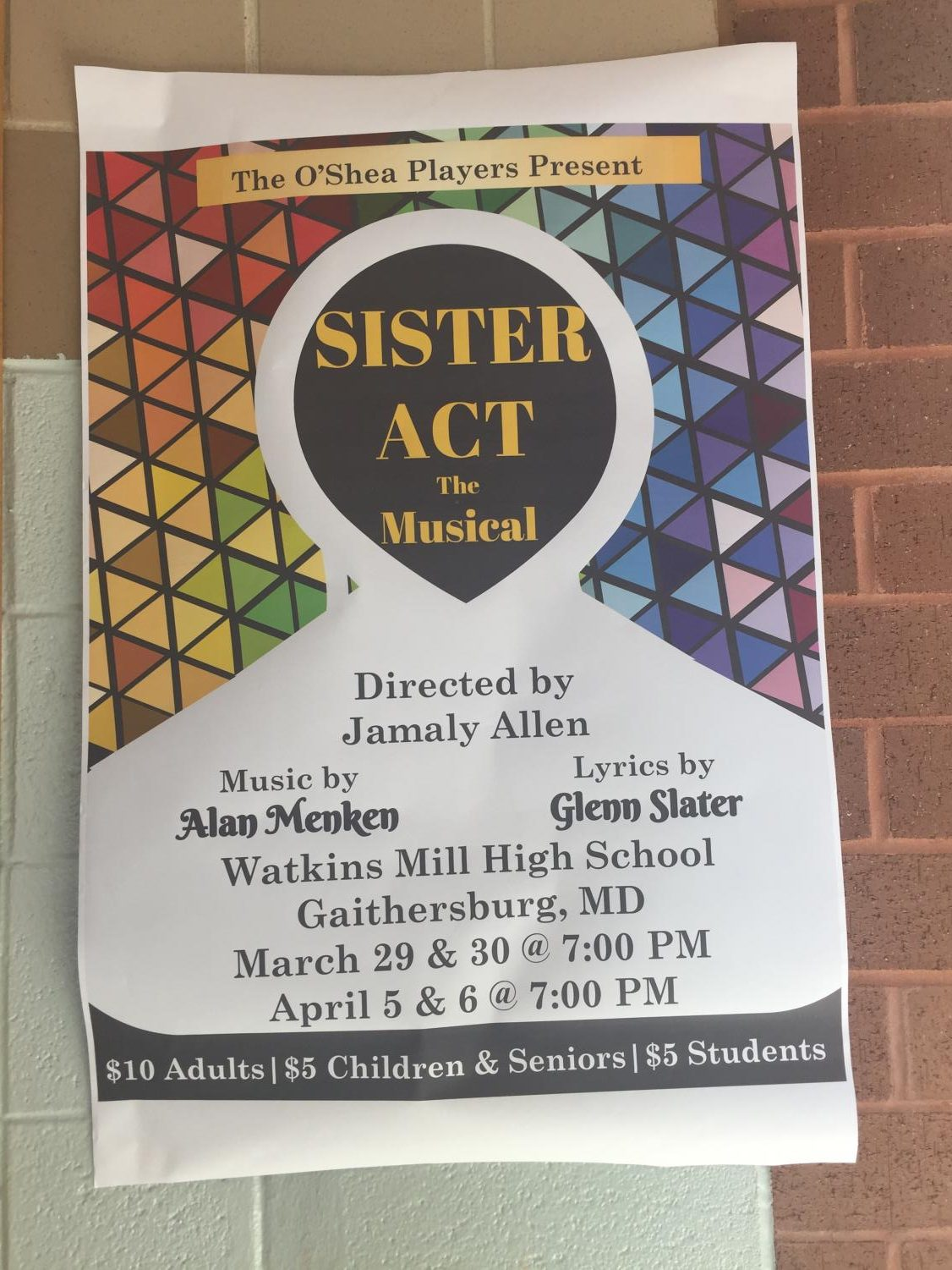 Sister Act: The Musical opens March 29 in the O'Shea Theatre at 7pm