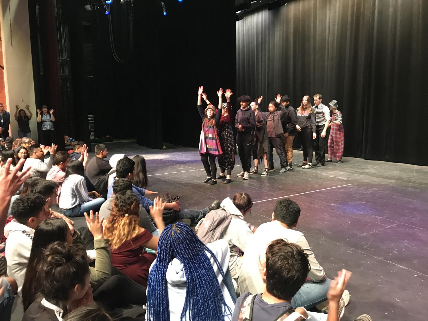 ESOL and American Sign Language students were invited to watch the Piano Theatre students from Russia perform. Some of the students were even participating in the act.