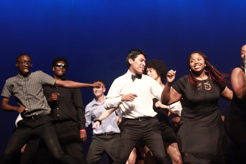 Seniors+Joseph+Diaz+and+his+escort+Sandra+Ogbuokiri+dance+during+the+opening+performance+during+Mr.+Watkins+Mill.