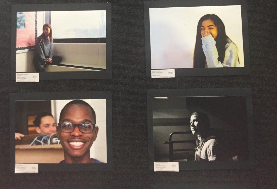 Photo+Portraits+by+various+Watkins+Mill+students+of+Watkins+Mill+students+in+the+Watkins+Mill+High+School+Art+Show+2019