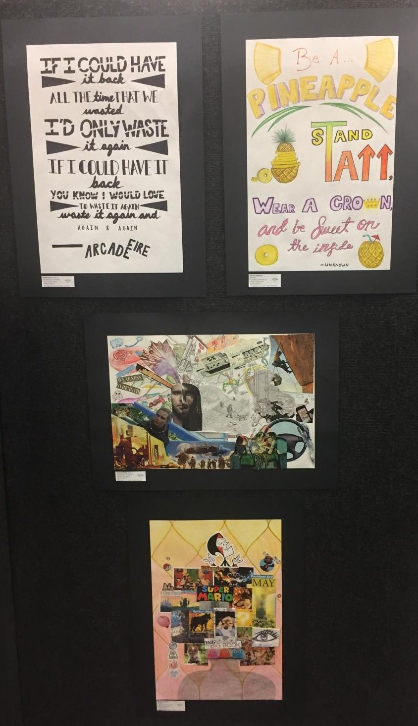 Collages+and+Quotes+by+art+students+in+the+Watkins+Mill+High+School+Art+Show+2019