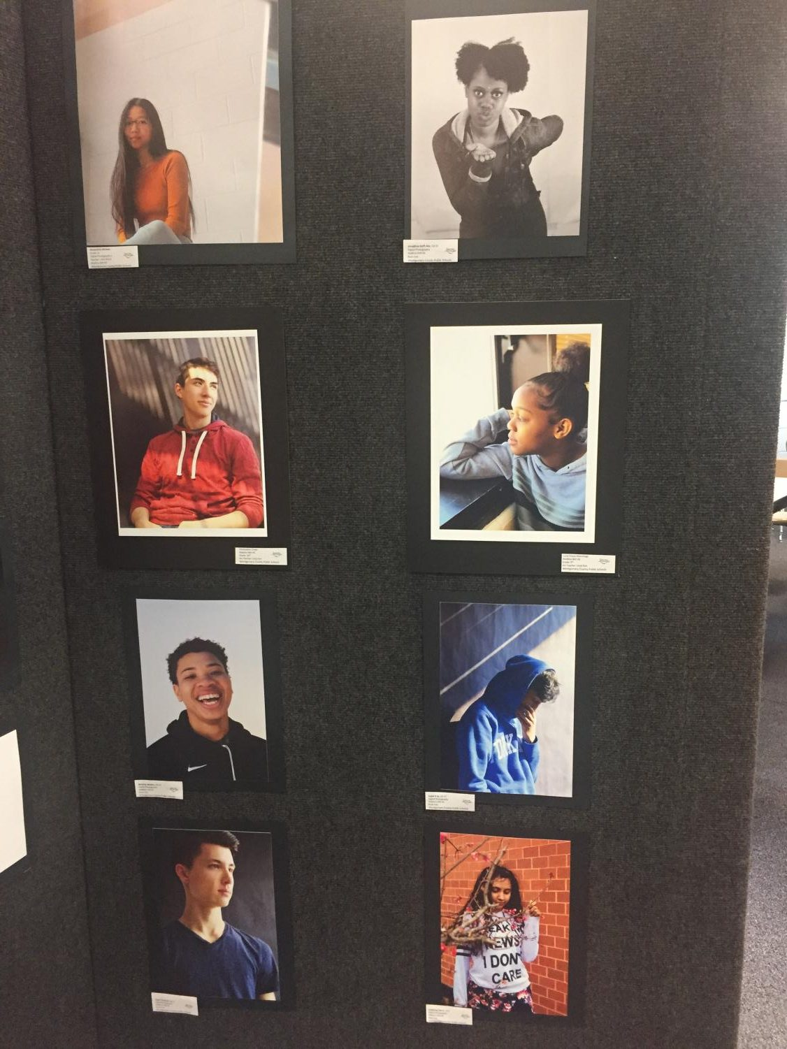 Photo+Portraits+by+Watkins+Mill+students+of+Watkins+Mill+students+in+the+Watkins+Mill+High+School+Art+Show+2019
