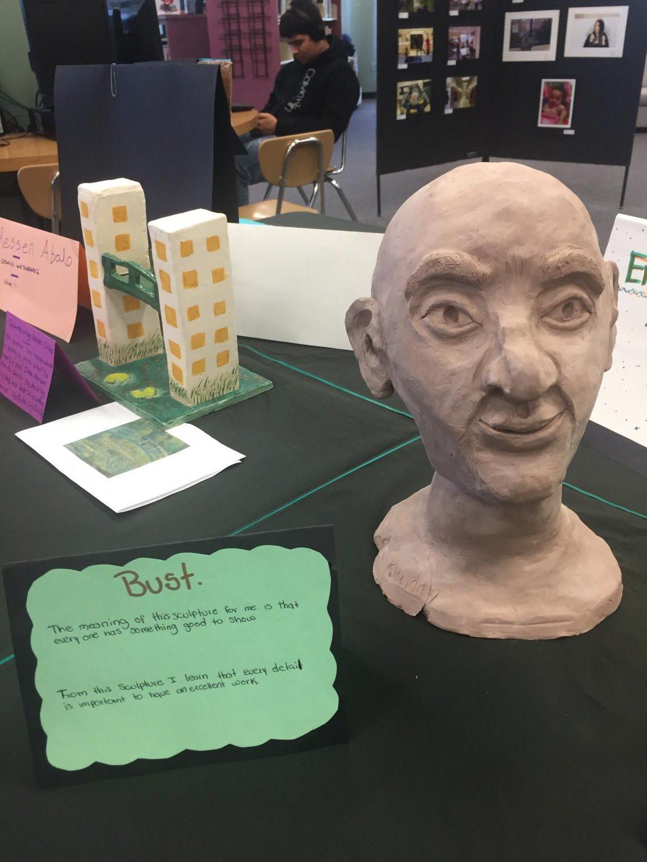 Ceramic+bust+in+the+Watkins+Mill+High+School+Art+Show+2019