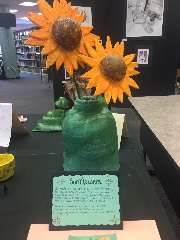 Flower+Sculpture+in+the+Watkins+Mill+High+School+Art+Show+2019