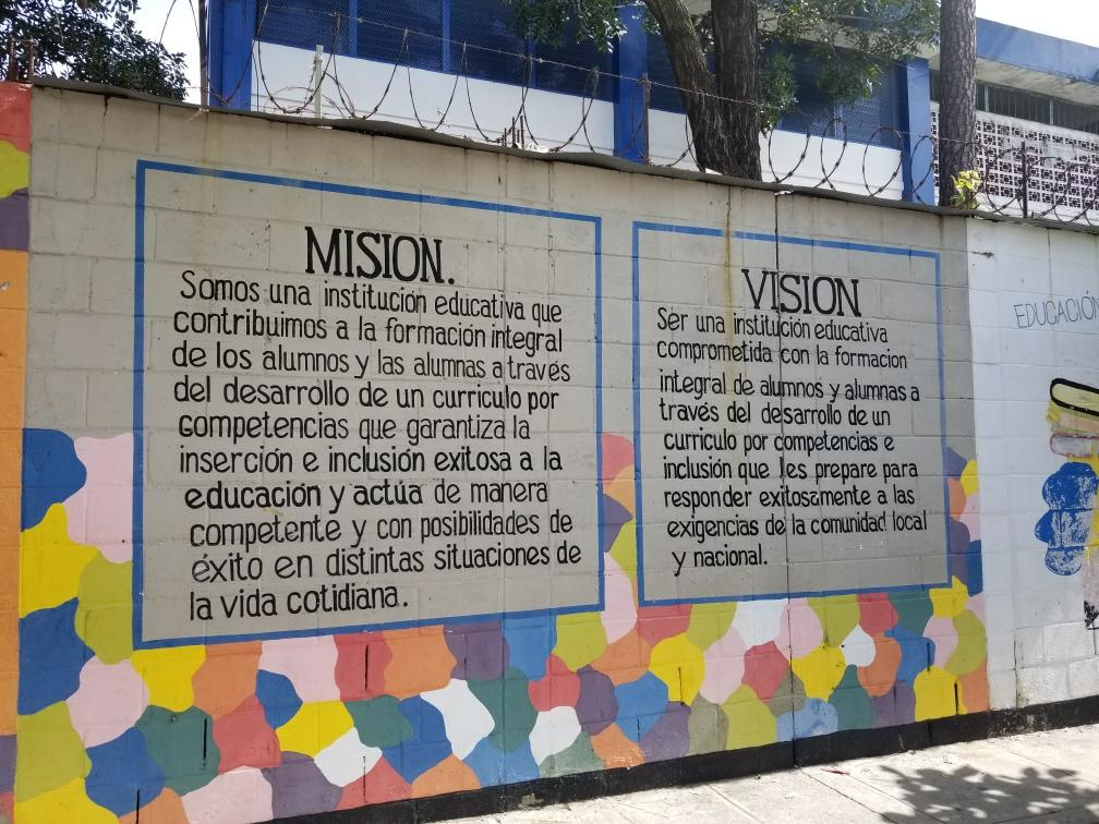 The+mission+and+vision+statement+for+the+school+English+teacher+Scott+Tarzwell+visited+in+El+Salvador.