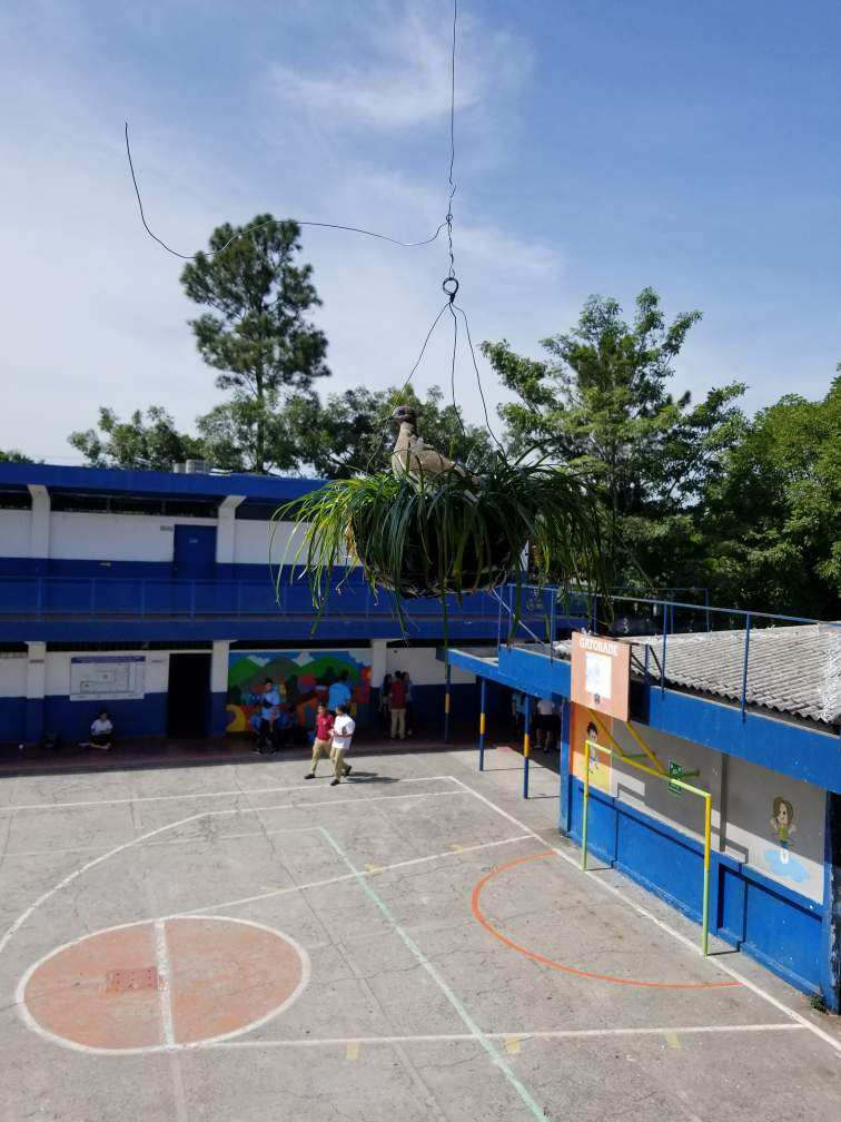 The+basketball+court+of+the+school+in+El+Salvador+that+English+teacher+Scott+Tarzwell+visited.